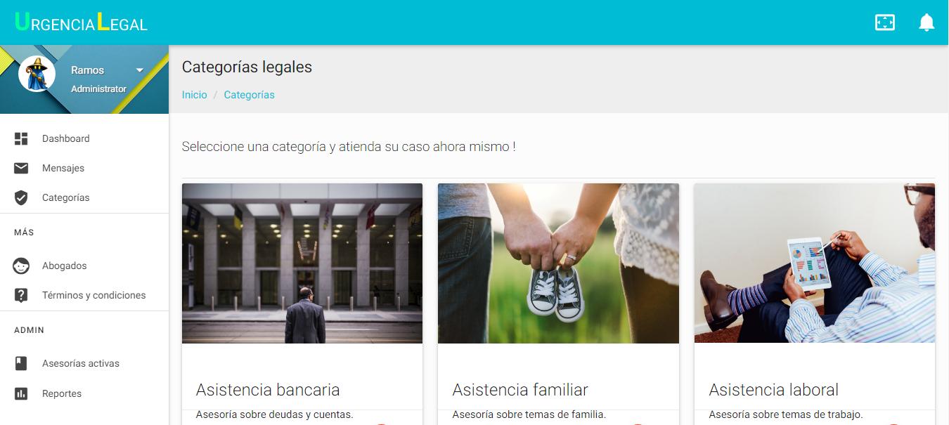 Categorias | Urgencia Legal